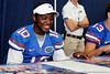 Florida redshirt freshman quarterback Tyler Murphy signs an autograph during the Gators' annual Fan Day event on Saturday, August 20, 2011 at the Stephen C. O'Connell Center in Gainesville, Fla. / Gator Country photo by Tim Casey