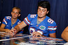Florida senior kicker Zack Brust signs an autograph during the Gators' annual Fan Day event on Saturday, August 20, 2011 at the Stephen C. O'Connell Center in Gainesville, Fla. / Gator Country photo by Tim Casey