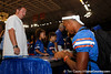 Florida redshirt freshman receiver Quinton Dunbar signs an autograph during the Gators' annual Fan Day event on Saturday, August 20, 2011 at the Stephen C. O'Connell Center in Gainesville, Fla. / Gator Country photo by Tim Casey