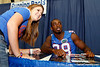 Florida senior running back Jeff Demps poses for a photo during the Gators' annual Fan Day event on Saturday, August 20, 2011 at the Stephen C. O'Connell Center in Gainesville, Fla. / Gator Country photo by Tim Casey