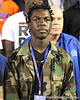 Naples (Fla.) Golden Gate wide receiver Frantz Dorvil stands for the national anthem before the Gators' 38-10 loss to the Alabama Crimson Tide on Saturday, October 1, 2011 at Ben Hill Griffin Stadium in Gainesville, Fla. / Gator Country photo by Rob Foldy