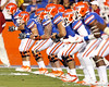 Florida redshirt senior center Dan Wenger warms up before the Gators' 38-10 loss to the Alabama Crimson Tide on Saturday, October 1, 2011 at Ben Hill Griffin Stadium in Gainesville, Fla. / Gator Country photo by Tim Casey