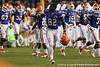 Florida redshirt junior receiver Omarius Hines runs onto the field before the Gators' 38-10 loss to the Alabama Crimson Tide on Saturday, October 1, 2011 at Ben Hill Griffin Stadium in Gainesville, Fla. / Gator Country photo by Andy Gregroy