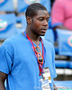 Gainesville (Fla.) High School defensive lineman Travis Rwebyogo arrives before the Gators' 38-10 loss to the Alabama Crimson Tide on Saturday, October 1, 2011 at Ben Hill Griffin Stadium in Gainesville, Fla. / Gator Country photo by Tim Casey