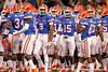 Florida players huddle before the Gators' 38-10 loss to the Alabama Crimson Tide on Saturday, October 1, 2011 at Ben Hill Griffin Stadium in Gainesville, Fla. / Gator Country photo by Tim Casey