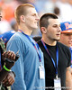 Mike Heuerman looks on before the Gators' 38-10 loss to the Alabama Crimson Tide on Saturday, October 1, 2011 at Ben Hill Griffin Stadium in Gainesville, Fla. / Gator Country photo by Tim Casey