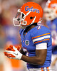 Florida sophomore receiver Robert Clark warms up before the Gators' 38-10 loss to the Alabama Crimson Tide on Saturday, October 1, 2011 at Ben Hill Griffin Stadium in Gainesville, Fla. / Gator Country photo by Tim Casey