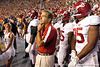 Alabama head coach Nick Saban waits to take the field before the Gators' 38-10 loss to the Alabama Crimson Tide on Saturday, October 1, 2011 at Ben Hill Griffin Stadium in Gainesville, Fla. / Gator Country photo by Tim Casey