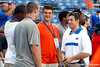 John O'Korn talks with other prospects before the Gators' 38-10 loss to the Alabama Crimson Tide on Saturday, October 1, 2011 at Ben Hill Griffin Stadium in Gainesville, Fla. / Gator Country photo by Tim Casey