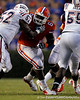 Florida redshirt senior defensive tackle Jaye Howard battles a blocker during the second quarter of the Gators' 41-3 win against the FAU Owls on Saturday, September 3, 2011 at Ben Hill Griffin Stadium in Gainesville, Fla. / Gator Country photo by Tim Casey