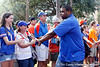 Florida redshirt junior defensive tackle Omar Hunter greets fans before the Gators' 41-3 win against the FAU Owls on Saturday, September 3, 2011 at Ben Hill Griffin Stadium in Gainesville, Fla. / Gator Country photo by Tim Casey