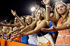 Florida fans cheer during the third quarter of the Gators' 41-3 win against the FAU Owls on Saturday, September 3, 2011 at Ben Hill Griffin Stadium in Gainesville, Fla. / Gator Country photo by Tim Casey