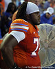 Florida redshirt junior guard David Young watches from the sideline during the second quarter of the Gators' 41-3 win against the FAU Owls on Saturday, September 3, 2011 at Ben Hill Griffin Stadium in Gainesville, Fla. / Gator Country photo by Tim Casey