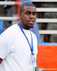 Venice (Venice HS) offensive tackle/defensive tackle Omari Phillips arrives before the Gators' 41-3 win against the FAU Owls on Saturday, September 3, 2011 at Ben Hill Griffin Stadium in Gainesville, Fla. / Gator Country photo by Tim Casey