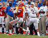 Florida redshirt freshman receiver Quinton Dunbar makes a 14-yard reception at the 33-yard line during the first quarter of the Gators' 41-3 win against the FAU Owls on Saturday, September 3, 2011 at Ben Hill Griffin Stadium in Gainesville, Fla. / Gator Country photo by Tim Casey