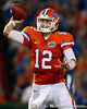 Florida redshirt senior quarterback John Brantley rolls out to pass during the third quarter of the Gators' 41-3 win against the FAU Owls on Saturday, September 3, 2011 at Ben Hill Griffin Stadium in Gainesville, Fla. / Gator Country photo by Tim Casey
