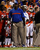 Florida defensive line coach Bryant Young watches from the sideline during the third quarter of the Gators' 41-3 win against the FAU Owls on Saturday, September 3, 2011 at Ben Hill Griffin Stadium in Gainesville, Fla. / Gator Country photo by Tim Casey