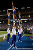 Florida cheerleaders perform during the fourth quarter of the Gators' 41-3 win against the FAU Owls on Saturday, September 3, 2011 at Ben Hill Griffin Stadium in Gainesville, Fla. / Gator Country photo by Tim Casey