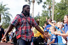 Florida sophomore linebacker/defensive end Ronald Powell greets fans before the Gators' 41-3 win against the FAU Owls on Saturday, September 3, 2011 at Ben Hill Griffin Stadium in Gainesville, Fla. / Gator Country photo by Tim Casey