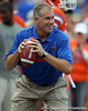 Florida linebackers coach/special teams coordinator D.J. Durkin conducts a drill before the Gators' 41-3 win against the FAU Owls on Saturday, September 3, 2011 at Ben Hill Griffin Stadium in Gainesville, Fla. / Gator Country photo by Tim Casey