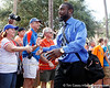 Florida redshirt senior running back Chris Rainey greets fans before the Gators' 41-3 win against the FAU Owls on Saturday, September 3, 2011 at Ben Hill Griffin Stadium in Gainesville, Fla. / Gator Country photo by Tim Casey