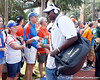 Florida redshirt freshman defensive tackle Leon Orr greets fans before the Gators' 41-3 win against the FAU Owls on Saturday, September 3, 2011 at Ben Hill Griffin Stadium in Gainesville, Fla. / Gator Country photo by Tim Casey
