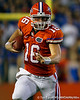 Florida freshman quarterback Jeff Driskel runs for a five-yard gain to the 47-yard line during the second quarter of the Gators' 41-3 win against the FAU Owls on Saturday, September 3, 2011 at Ben Hill Griffin Stadium in Gainesville, Fla. / Gator Country photo by Tim Casey
