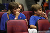 Carol Muschamp and her children listen to Florida head coach Will Muschamp speak after the Gators' 41-3 win against the FAU Owls on Saturday, September 3, 2011 at Ben Hill Griffin Stadium in Gainesville, Fla. / Gator Country photo by Tim Casey