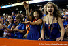Florida fans cheer during the fourth quarter of the Gators' 41-3 win against the FAU Owls on Saturday, September 3, 2011 at Ben Hill Griffin Stadium in Gainesville, Fla. / Gator Country photo by Tim Casey