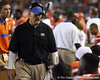 Florida defensive coordinator/defensive line coach Dan Quinn talks to players during the fourth quarter of the Gators' 41-3 win against the FAU Owls on Saturday, September 3, 2011 at Ben Hill Griffin Stadium in Gainesville, Fla. / Gator Country photo by Tim Casey