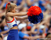 Florida cheerleaders perform during the first quarter of the Gators' 41-3 win against the FAU Owls on Saturday, September 3, 2011 at Ben Hill Griffin Stadium in Gainesville, Fla. / Gator Country photo by Tim Casey