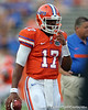Florida freshman quarterback Jacoby Brissett warms up before the Gators' 41-3 win against the FAU Owls on Saturday, September 3, 2011 at Ben Hill Griffin Stadium in Gainesville, Fla. / Gator Country photo by Tim Casey