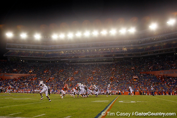 FAU runs a play during the fourth quarter of the Gators' 41-3 win against the FAU Owls on Saturday, September 3, 2011 at Ben Hill Griffin Stadium in Gainesville, Fla. / Gator Country photo by Tim Casey