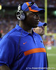 Florida defensive line coach Bryant Young watches from the sideline during the second quarter of the Gators' 41-3 win against the FAU Owls on Saturday, September 3, 2011 at Ben Hill Griffin Stadium in Gainesville, Fla. / Gator Country photo by Tim Casey