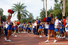 Florida cheerleaders await the arrival of the team before the Gators' 41-3 win against the FAU Owls on Saturday, September 3, 2011 at Ben Hill Griffin Stadium in Gainesville, Fla. / Gator Country photo by Tim Casey