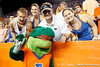Alberta poses with fans during the fourth quarter of the Gators' 41-3 win against the FAU Owls on Saturday, September 3, 2011 at Ben Hill Griffin Stadium in Gainesville, Fla. / Gator Country photo by Tim Casey