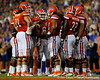 Florida players huddle during the second quarter of the Gators' 41-3 win against the FAU Owls on Saturday, September 3, 2011 at Ben Hill Griffin Stadium in Gainesville, Fla. / Gator Country photo by Tim Casey