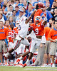Florida redshirt freshman receiver Quinton Dunbar reaches for a pass during the first quarter of the Gators' 41-3 win against the FAU Owls on Saturday, September 3, 2011 at Ben Hill Griffin Stadium in Gainesville, Fla. / Gator Country photo by Tim Casey