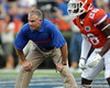 Florida linebackers coach/special teams coordinator D.J. Durkin oversees warmups before the Gators' 41-3 win against the FAU Owls on Saturday, September 3, 2011 at Ben Hill Griffin Stadium in Gainesville, Fla. / Gator Country photo by Tim Casey