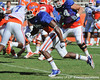 Florida redshirt junior receiver Frankie Hammond, Jr. runs a pass route during the Gators' practice on Wednesday, April 6, 2011 at Ben Hill Griffin Stadium. / photo courtesy of UF Communications