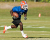 Florida redshirt senior running back Chris Rainey works out works out during the Gators' practice on Wednesday, March 16, 2011 at the Sanders football practice fields. / photo courtesy of UF Communications