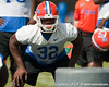 Florida sophomore linebacker Gerald Christian works out during the Gators' practice on Wednesday, March 16, 2011 at the Sanders football practice fields. / photo courtesy of UF Communications