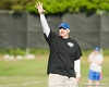 Florida defensive coordinator Dan Quinn oversees a drill during the Gators' practice on Wednesday, March 16, 2011 at the Sanders football practice fields. / photo courtesy of UF Communications