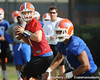Florida freshman quarterback Jeff Driskel works out during the Gators' practice on Wednesday, March 16, 2011 at the Sanders football practice fields. / photo courtesy of UF Communications
