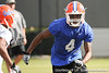 Florida redshirt sophomore receiver Andre Debose works out during the Gators' practice on Wednesday, March 16, 2011 at the Sanders football practice fields. / photo courtesy of UF Communications