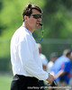 Florida head coach Will Muschamp looks on during the Gators' practice on Wednesday, March 16, 2011 at the Sanders football practice fields. / photo courtesy of UF Communications