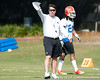 Florida head coach Will Muschamp oversees a drill during the Gators' practice on Wednesday, March 16, 2011 at the Sanders football practice fields. / photo courtesy of UF Communications