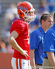 Florida sophomore quarterback Christian Provancha warms up before the Gators' spring football game on Saturday, April 9, 2011 at Ben Hill Griffin Stadium in Gainesville, Fla. / Gator Country photo by Tim Casey