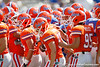 Florida players huddle before the Gators' spring football game on Saturday, April 9, 2011 at Ben Hill Griffin Stadium in Gainesville, Fla. / Gator Country photo by Tim Casey