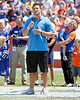 Tim Tebow speaks to the crowd during the Gators' spring football game on Saturday, April 9, 2011 at Ben Hill Griffin Stadium in Gainesville, Fla. / Gator Country photo by Tim Casey